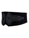 Women's Vintage Black Crochet High Waisted Short Torso Corset Belt