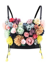 Handmade flower Sweet Fancy Padded Underwire Bustier Bra Clubwear Crop Top