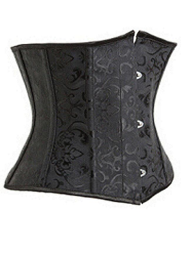 Women's Spiral Steel Boned Waist Training Cincher Brocade Underbust Corset
