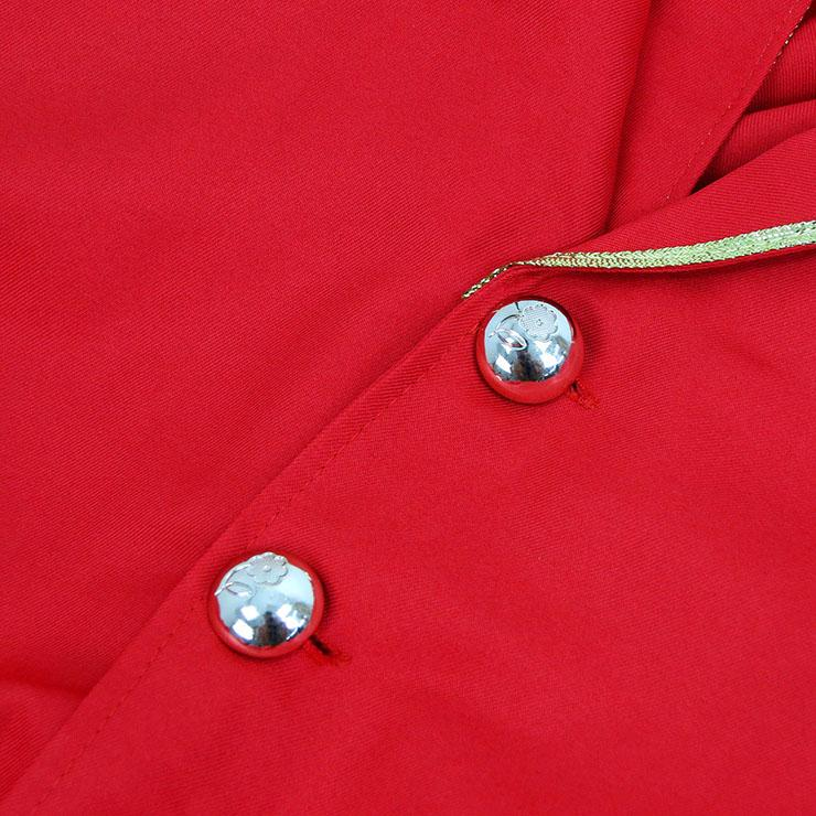 Burlesque Men's Red Ringmaster Tailcoat Jacket