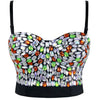 Sweets Multi-color Studded Rhinestone  B Cup Bustier Bra Party Bustier Crop Top