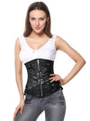 Women's Steampunk Brocade Steel Boned Underbust Corset with Pouches