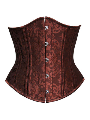 Women's 26 Steel Boned Vintage Brocade Underbust Waist Training Corset