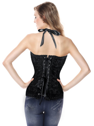 Lace Waist Training  Spiral Steel Boned Tummy Control Hourglass Corset