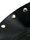 Steampunk Black Faux Leather Buckles Rivets Armlet One-shoulder Shrug