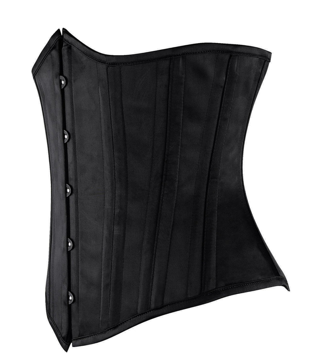 26 Double Spiral Steel Boned Satin Waist Training Cincher UnderbustHeavy Corsets