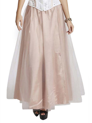 Women's Vintage Layered Tulle High Waisted Maxi Skirt Dress