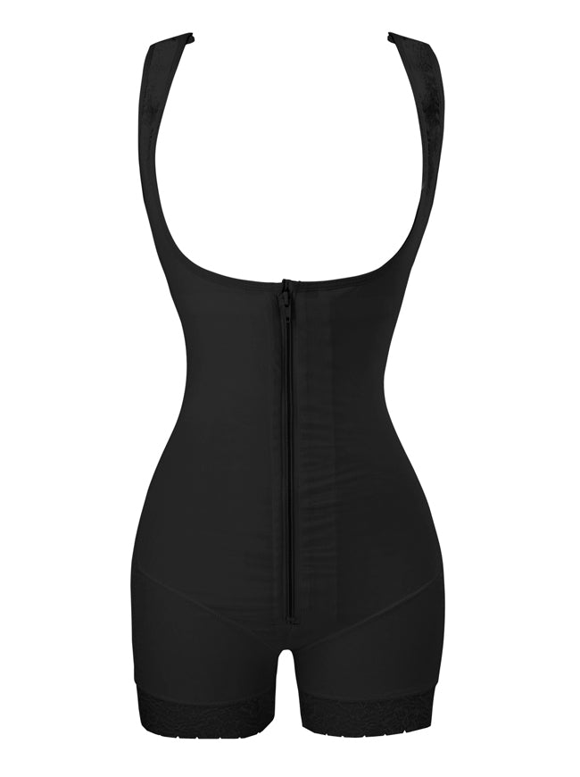 Women's Wear Your Own Bra Firm Control Butt Lifter Bodysuit Shapewear