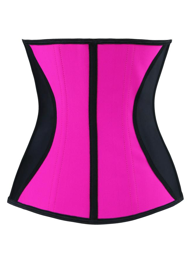 Women's Pink Latex Underbust Waist Trainer Shaper