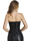Fashion Lace Fishnet Boned Gothic Retro Steampunk Corset Bustier Top with Waist Belt