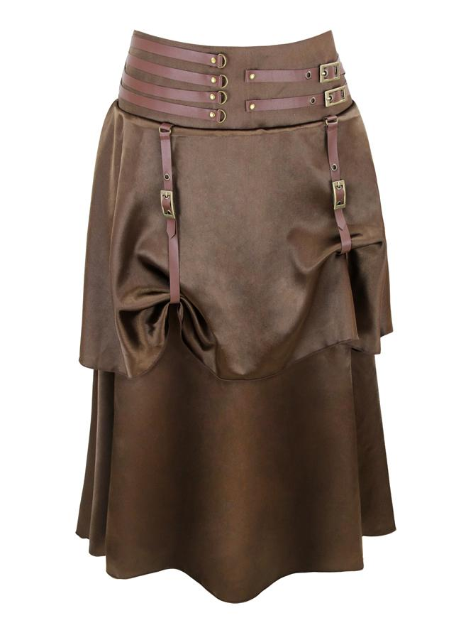 Women's Victorian Steampunk Gothic Vintage Solid Asymmetrical Corset Skirt