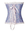 Women's Burlesque Sweetheart Satin Laces Boned Overbust Corset Bustier