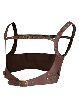 Steampunk PU Leather Strappy Tank Eyelet Buckle Corset Belt Harness