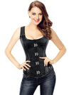 Women's Spiral Steel Boned Faux Leather Steampunk Retro Bustier Corset