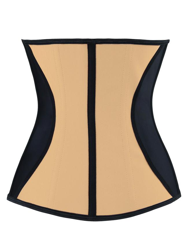 Women's Apricot Latex Underbust Waist Trainer Shaper Corset