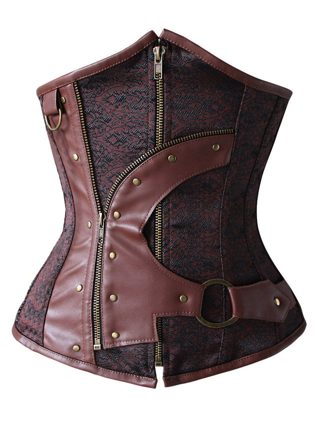 12 Spiral Steel Boned Steampunk Fashion Underbust Corset Top