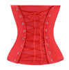 Women's Sexy Lace Up Overbust Christmas Satin Burlesque Corset Bustier Top