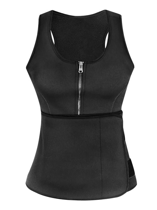 Waist Training Corset Tank Top Body Control Corset Workout Vest with Girdles Belt