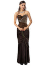 Women's Steampunk Goth Vintage Steel Boned Bustier Corset and Skirt Set