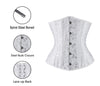 Black Heavy Duty Spiral Steel Boned Underbust Corset for Waist Training Cinhcer