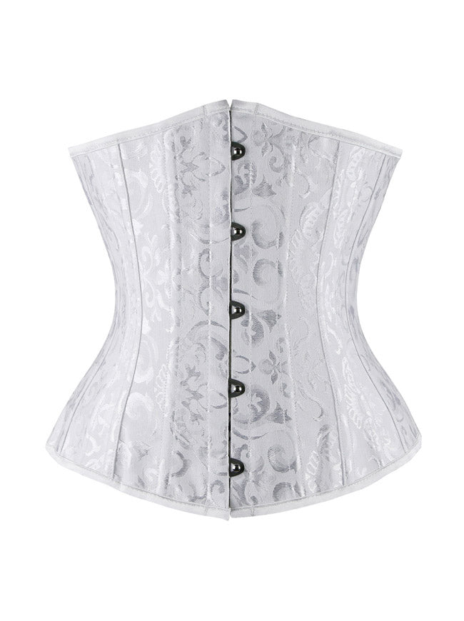 Heavy Duty Spiral Steel Boned Plus Size Underbust Corset for Waist Training Cinhcer