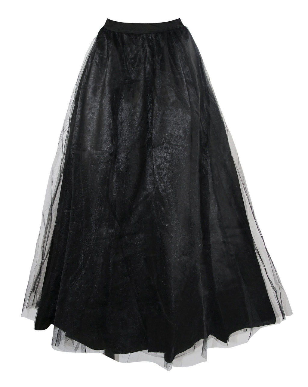 Women's Vintage Layered Tulle High Waisted Maxi Tutu Skirt Dress