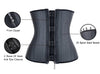 Women's 25 Spiral Steel Boned Latex Waist Training Cincher Underbust Zipper Corset