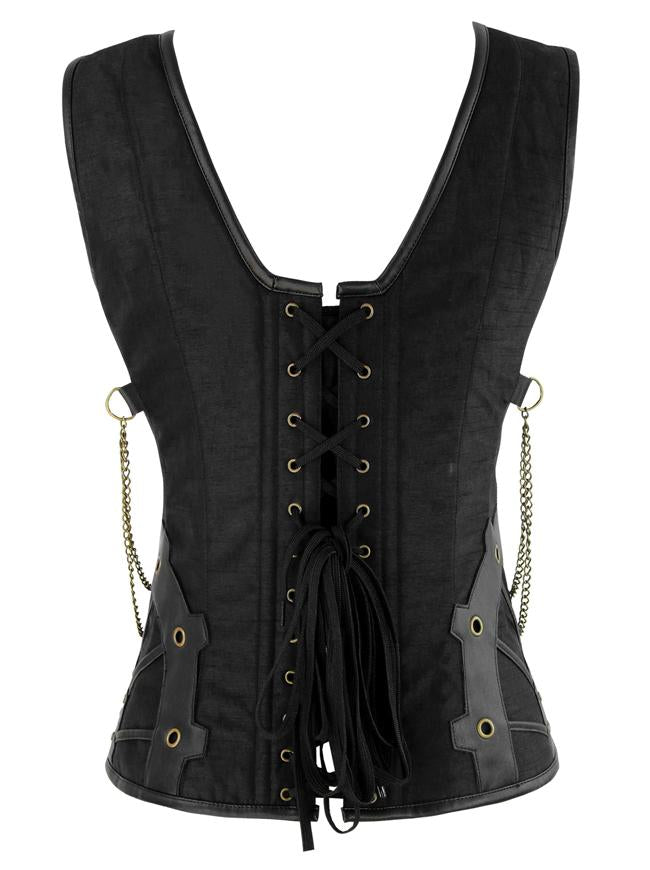 Women's Fashion Lace Up Steel Boned Gothic Steampunk Corset