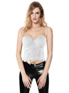 Women's B Cup Sexy Beauty Floral Lace Bustier Club Party Crop Top Bra Top