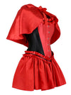 Burlesque Steel Bone Luxury Red Riding Hood Costume Corset Dress