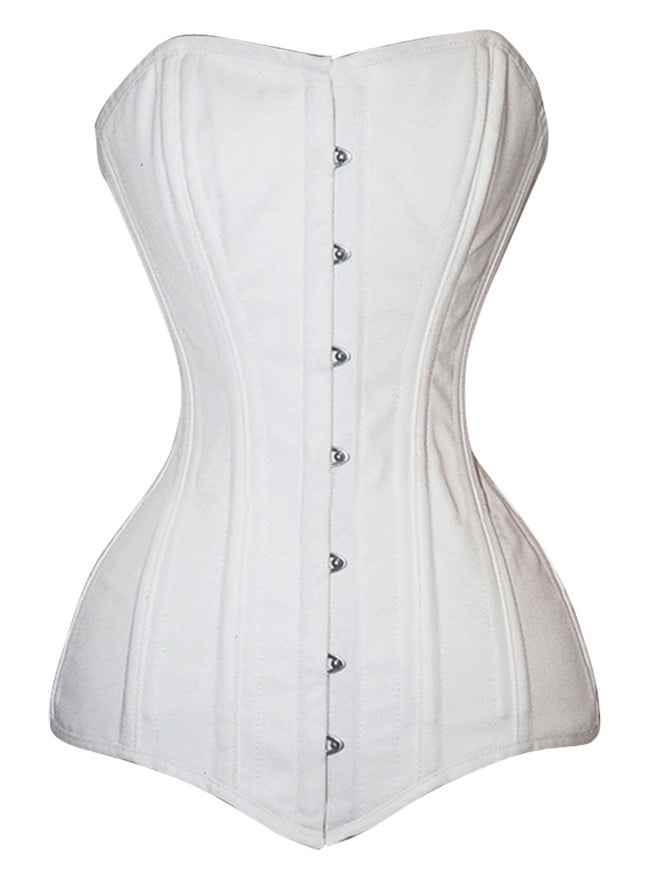 Heavy Duty 26 Steel Boned Cotton Long Torso Hourglass Body Shaper Corset