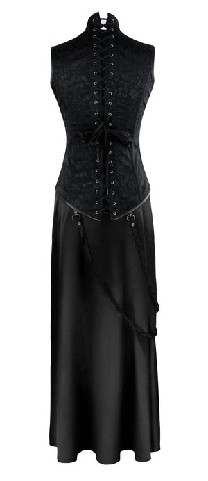 Women's Steampunk Gothic Steel Boned Underbust Corset and Skirt Set