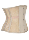 Fashion See-through Floral 8 Steel Boned Under-bust Waist-Cincher Corset
