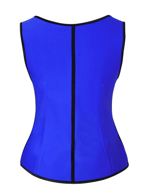 Women's Plus Size Steel Boned Latex 3 Rows of Hooks Underbust Sport Corset Vest