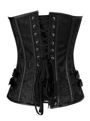 Women's Spiral Steel Boned Steampunk Goth Halloween Burlesque Corset