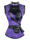 Steampunk Gothic Vintage Steel Boned Overbust Corset for Halloween