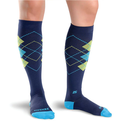 Classic Argyle Compression Socks