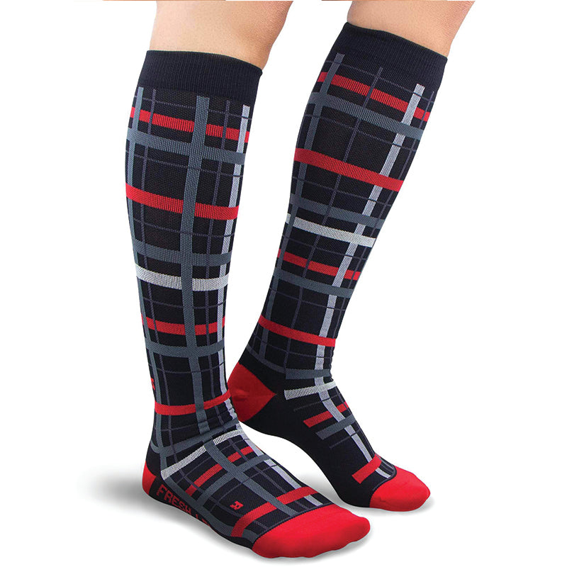 Plaid Compression Socks