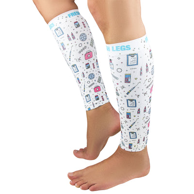 Medical Doodle Compression Leg Sleeves