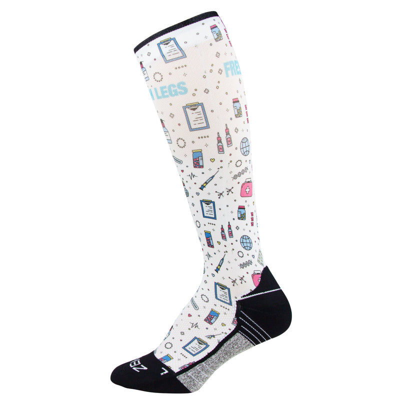 Medical Doodle Compression Socks