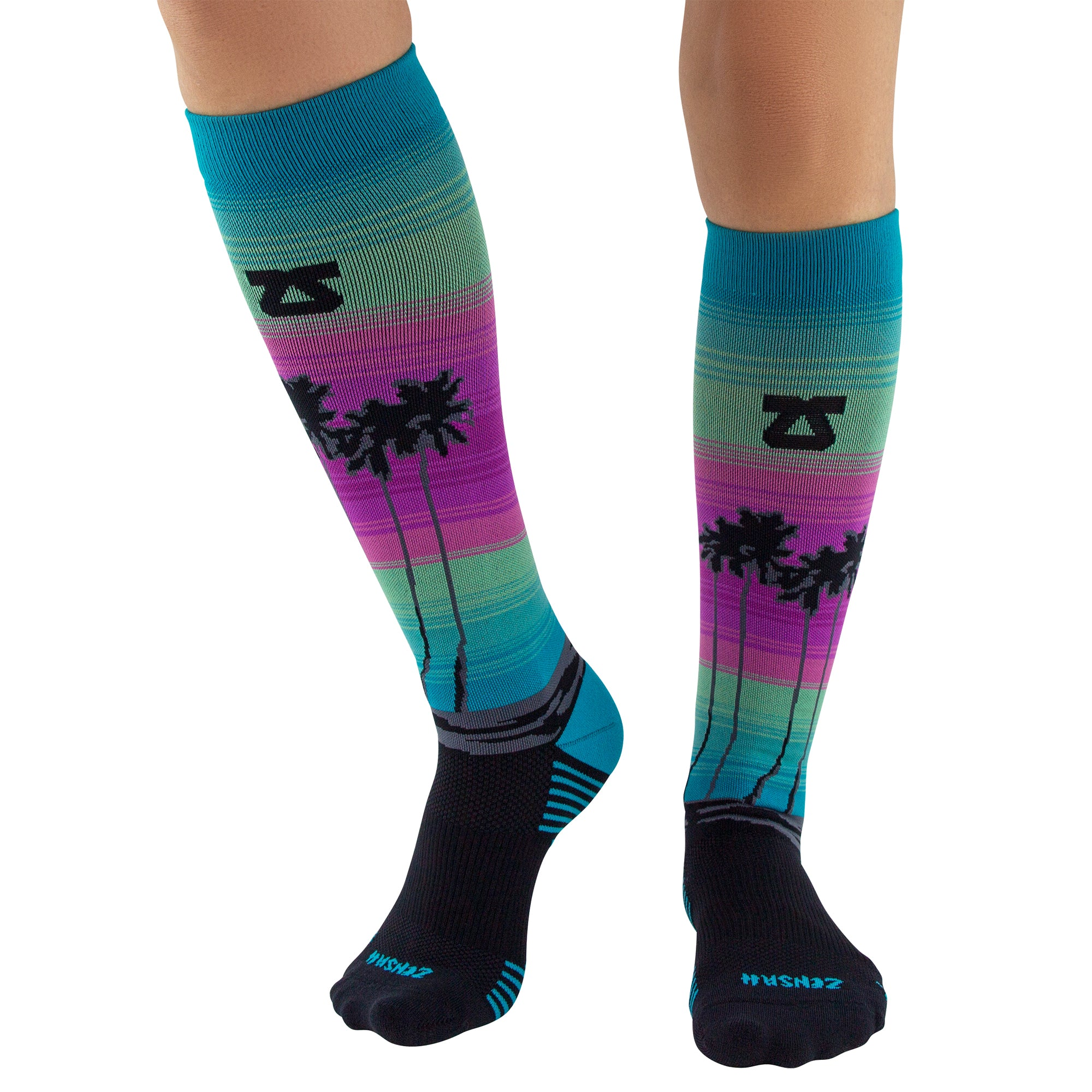 Sock of the Month Compression Socks - Miami Palm