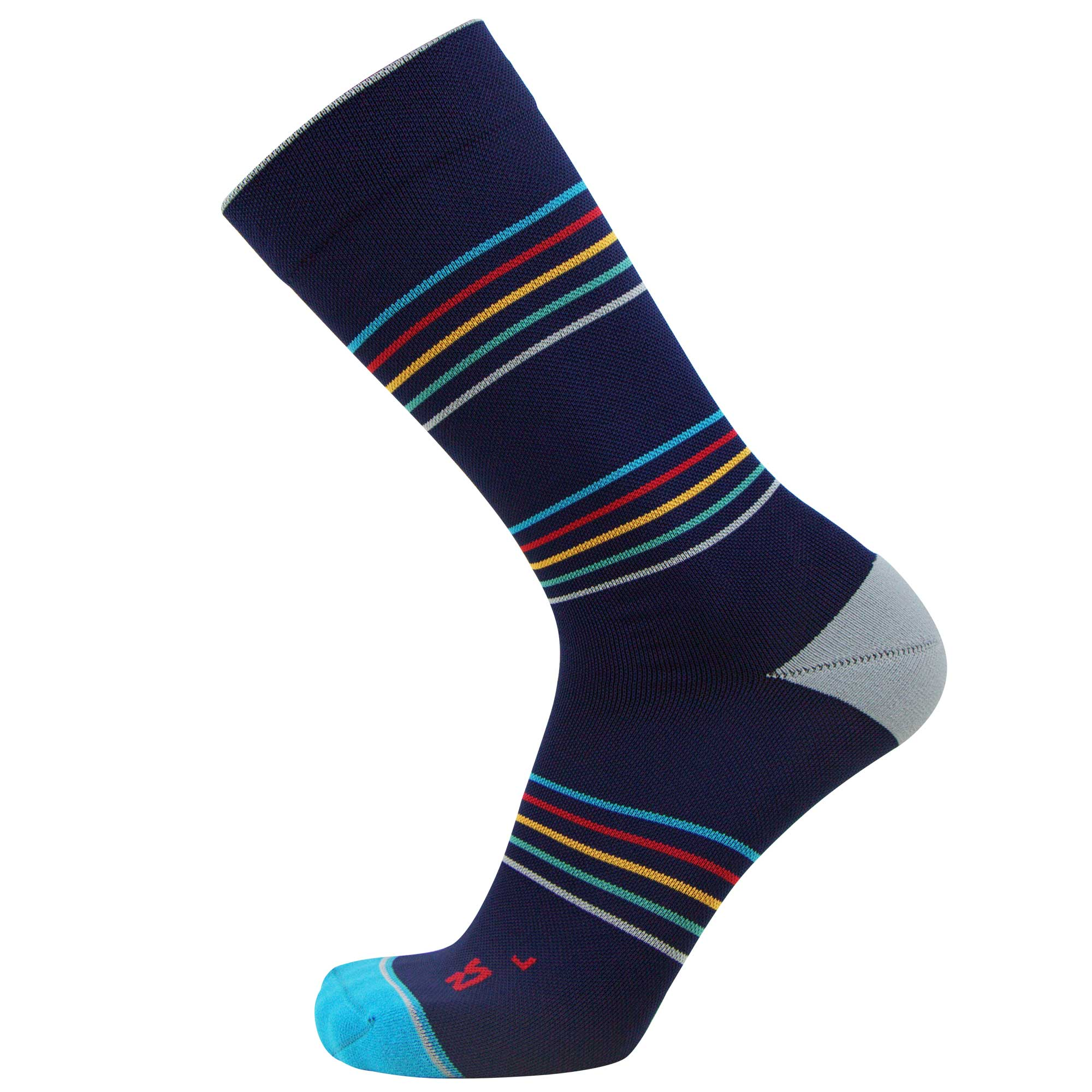 Commuter Sock Navy Slim Stripes