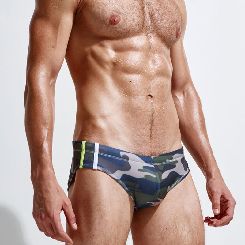 deBrief Camo Swim Trunks