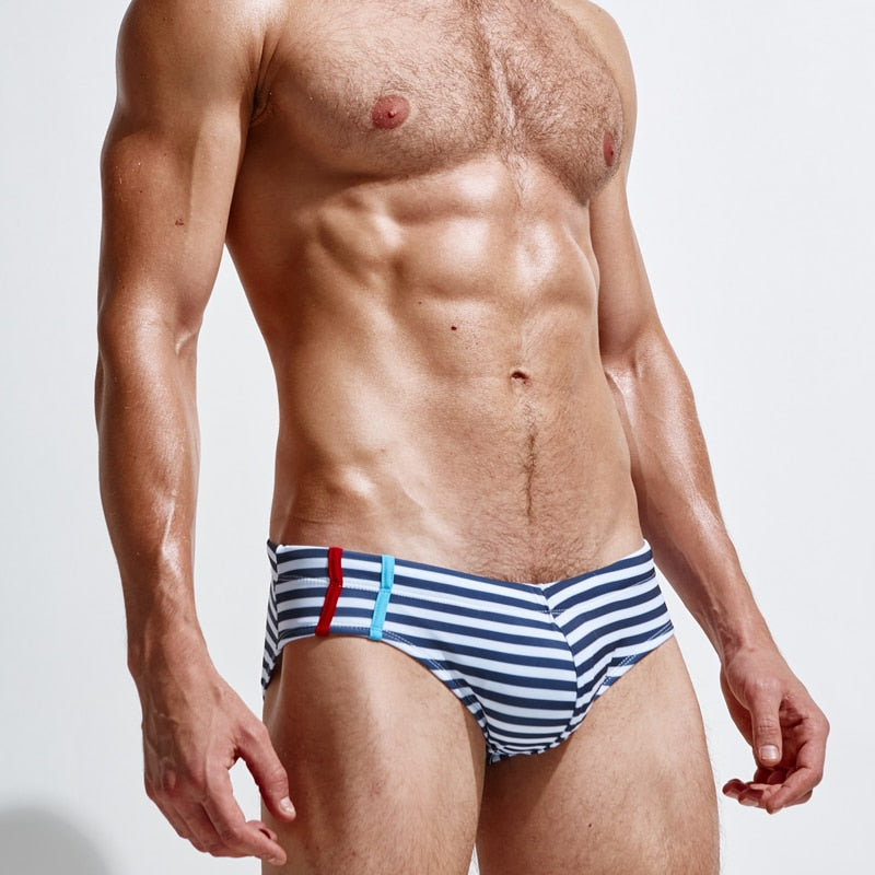 Striped Speedo