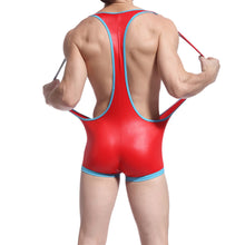 Load image into Gallery viewer, deBrief Red Wrestling Singlet
