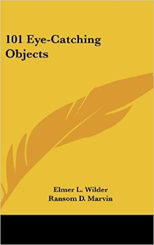 101 Eye-Catching Objects [Hardcover] Wilder, Elmer L. and Marvin, Ransom D.