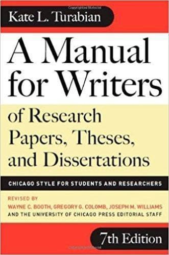 A Manual for Writers of Research Papers, Theses, and Dissertations, Seventh Edition: Chicago Style for Students and Researchers - Books - Turabian, Kate - Forerunner Bookstore Online Store