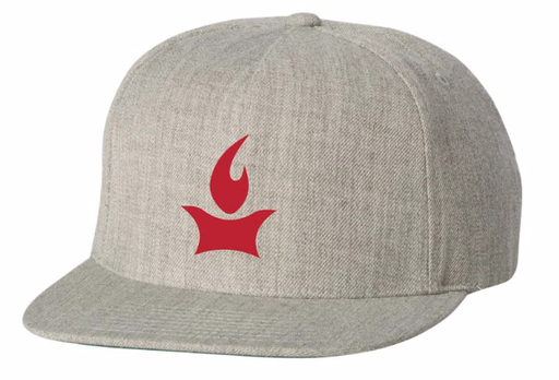 Flame Logo Flat-billed Hat