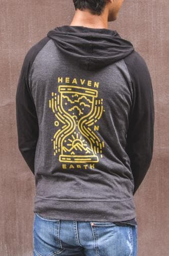 Heaven & Earth Hourglass Lightweight Zip Hoodie - Merchandise: Clothing - Forerunner Bookstore - Forerunner Bookstore Online Store