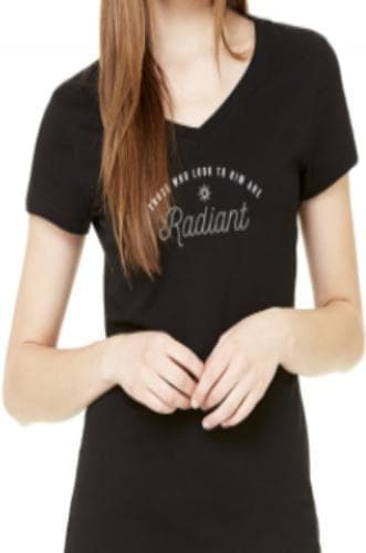 Radiant Women's V-Neck T-Shirt - Merchandise: Clothing - Forerunner Bookstore - Forerunner Bookstore Online Store